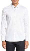 Ted Baker Men's 'Sobossy' Trim Fit Print Sport Shirt