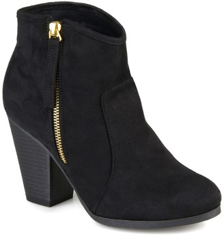 Journee Collection Link Round Toe Bootie