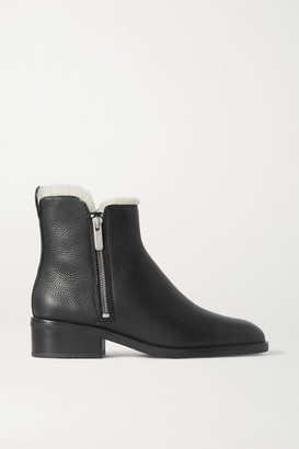 3.1 Phillip Lim Alexa Shearling-lined Textured-leather Ankle Boots - Black