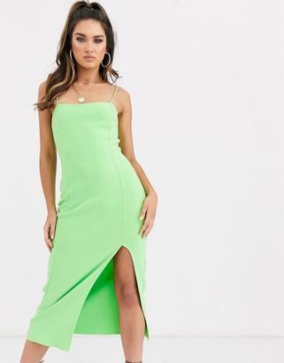 Bec & Bridge missy neon green midi dress