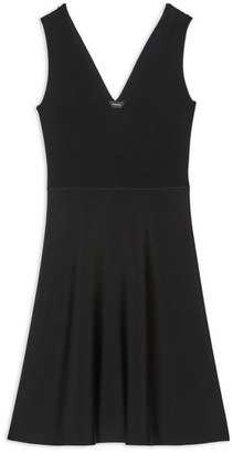Theory Ribbed Knit Fit & Flare Dress