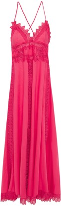 Charo Ruiz Ibiza Imogen Crocheted Lace-trimmed Cotton-voile Maxi Slip Dress