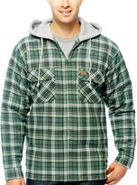 Wrangler Riggs Workwear Hooded Flannel Shirt Jacket