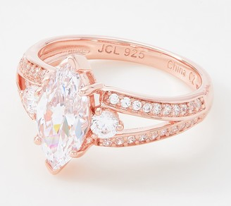 Diamonique 2.50 ct Marquise Ring, Sterling Silver
