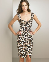 Jeweled Animal-Print Dress