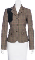Valentino Wool Plaid Jacket