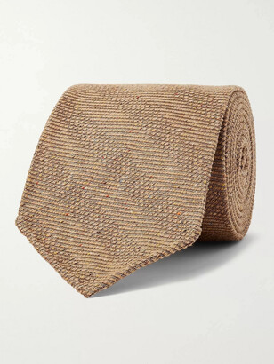 Kingsman + Drake's 8cm Striped Melange Textured-Silk Tie