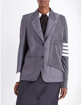 Thom Browne Deconstructed wool and cashmere blazer