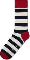 Happy Socks Navy/Red Stripe Socks