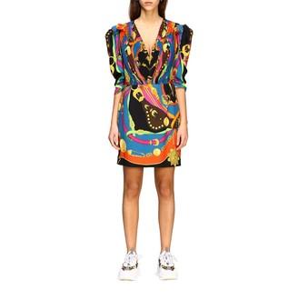 Versace Dress V-neck Dress With Rodeo Print