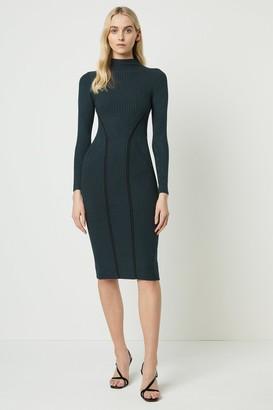 French Connenction Simona Bodycon High Neck Dress