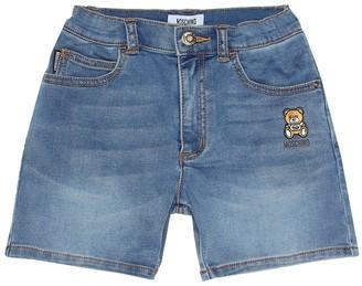MOSCHINO BAMBINO Stretch denim shorts