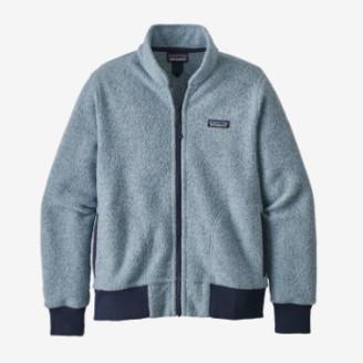 Patagonia Big Sky Blue Woolyester Fleece Womens Jacket - large