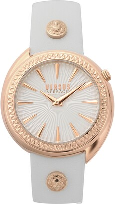Versace Tortona Leather Strap Watch, 38mm