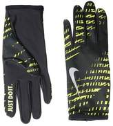 Nike MEN'S LIGHTWEIGHT RIVAL RUN GLOVES 2.0 S BLACK/VOLT/SILVER Gloves