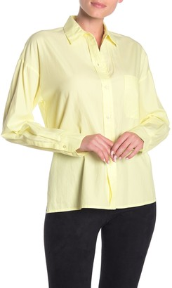 Vince Boxy Long Sleeve Button Front Shirt