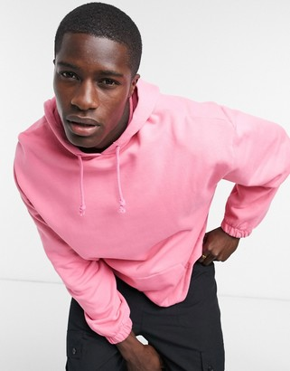 ASOS DESIGN co-ord oversized hoodie with fixed hem in bright pink