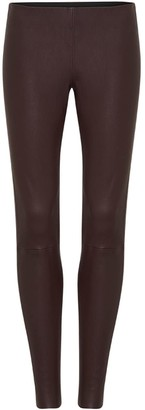 West 14th West Broadway Legging Shiraz Stretch Leather