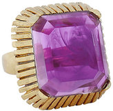 Elizabeth Cole Wren Purple Cocktail Ring