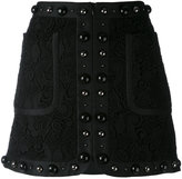 No.21 textured stud mini skirt - women - Silk/Polyamide/Polyester - 44