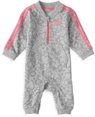 adidas Baby Girl's Tricot Striped Jumpsuit
