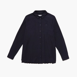 Lacoste Women's Loose Fit Pleated Back Flannel Shirt