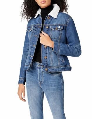 Urban Classics Women's Ladies Sherpa Denim Jacket