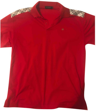 Burberry Red Polyester Polo shirts