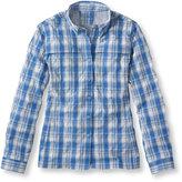 L.L. Bean Misses' Tropicwear Shirt, Long-Sleeve Plaid