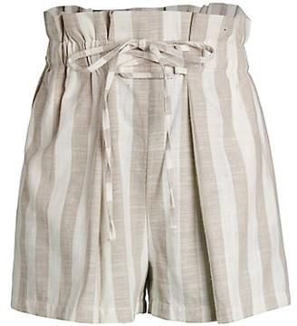 Lea & Viola Striped Paperbag Shorts