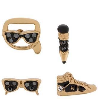 Karl Lagerfeld Paris Charms Stud Earrings