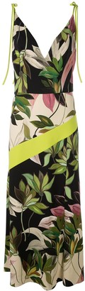Christian Siriano Hawaiian print fitted dress