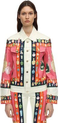 Casablanca Printed Les Parfums Cotton Denim Jacket
