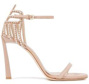 Lanvin Crystal-embellished Suede Sandals
