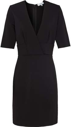Reiss Rebecca - Wrap Front Slim Fit Dress in Black