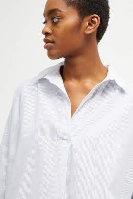 French Connection Rhodes Stripe Pop Over Shirt