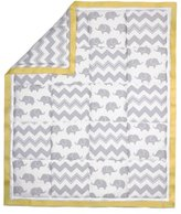 The Peanut Shell Elephant Patchwork Cotton Quilt