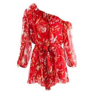 Zimmermann Red Silk Jumpsuits