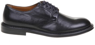 Doucal's Doucals Blue Nappa Soft Nappa Lace-up