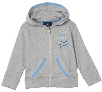 Psycho Bunny Kids Priory Hoodie (Toddler/Little Kids/Big Kids) (Heather Grey) Boy's Clothing