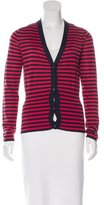 Miu Miu Cashmere Striped Cardigan