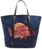 See by Chloe Andy embroidered denim tote