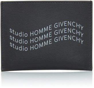Givenchy Triple-Logo Leather Card Case