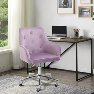 Everly Quinn Ronaldo Homeoffice Task Chair Upholstery Color: Purple