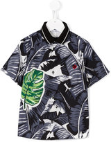 Dolce & Gabbana palm leaf print shirt - kids - Cotton - 4 yrs