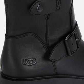 UGG Women's Saoirse Waterproof Leather Biker Boots - Black
