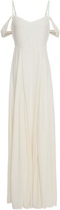 Reformation Poppy Cold-shoulder Crepe Maxi Dress