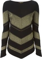 Roberto Cavalli chevron sweater
