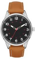 Men's Strap Watch with Full Numeric Dial - Brown