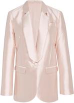 Cynthia Rowley Neptune Silk Wool Smoking Jacket